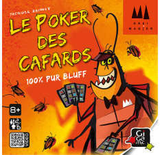 Le poker des cafards Jeux d'ambiance Gigamic